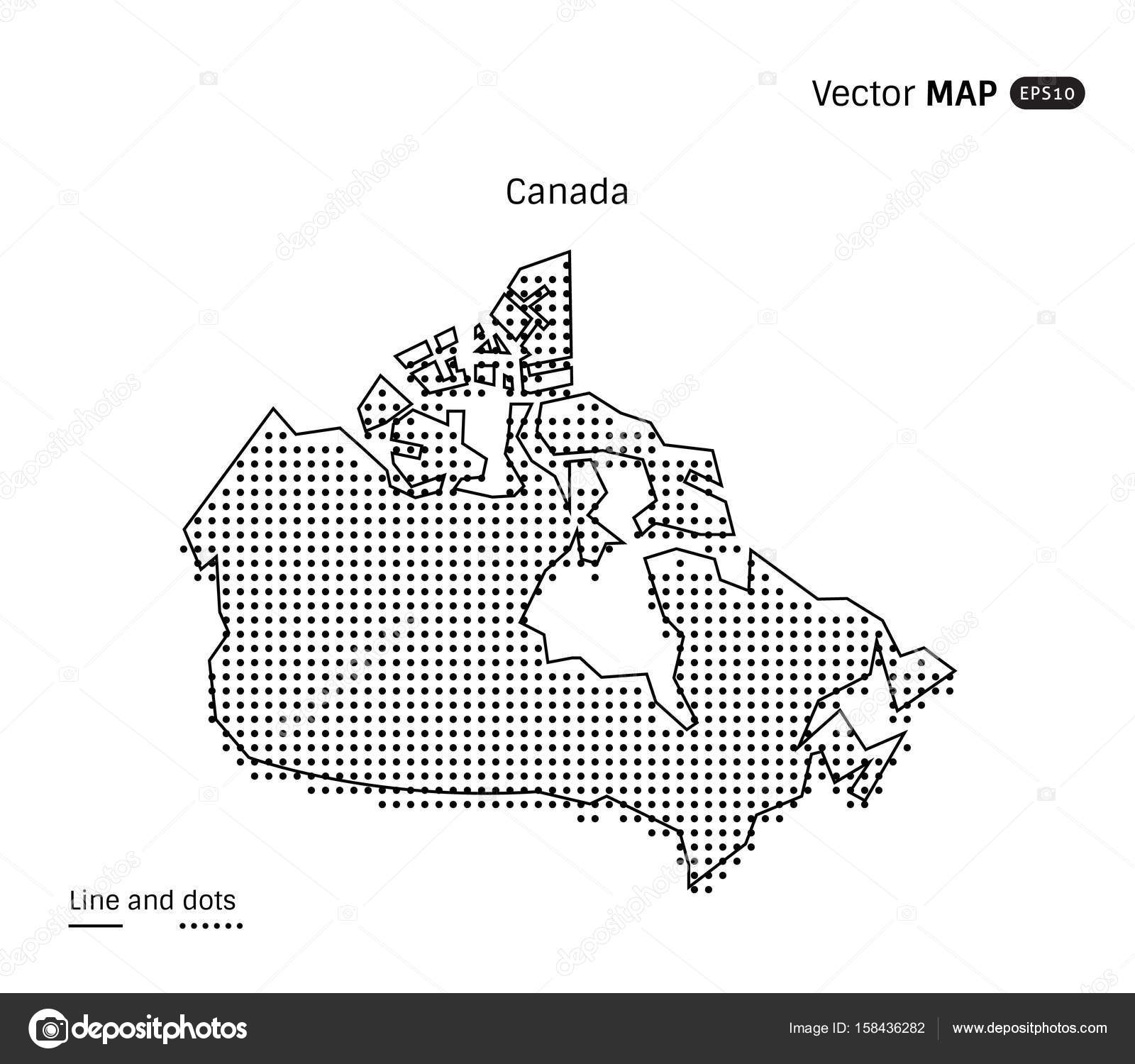 Vector Dotted Canada Map — Stock Vector © Greeek #158436282