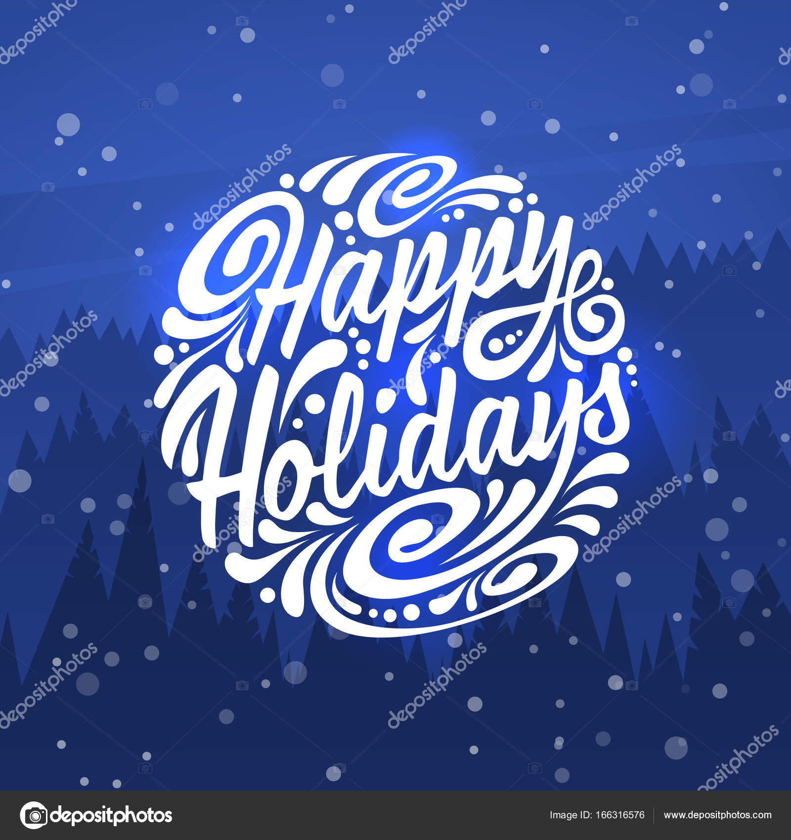 Happy Holidays Holidays Greeting Card Stock Vector Greeek