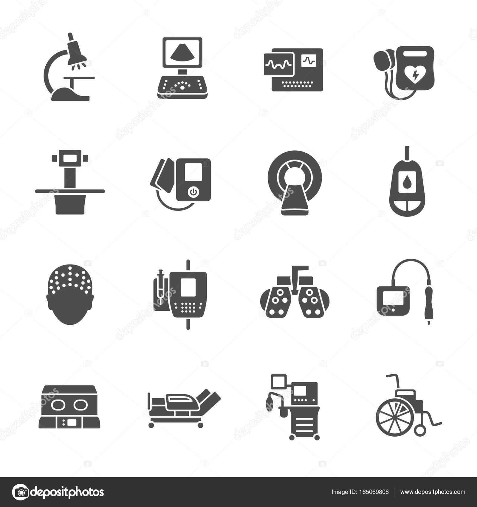 Medizinische Geräte Icons Set — Stockvektor © missbobbit #165069806