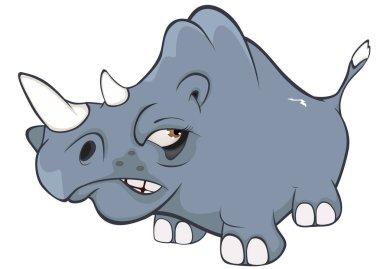 hand-drawn rhino character