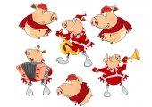 rajzfilm sor sertések piros ruhát