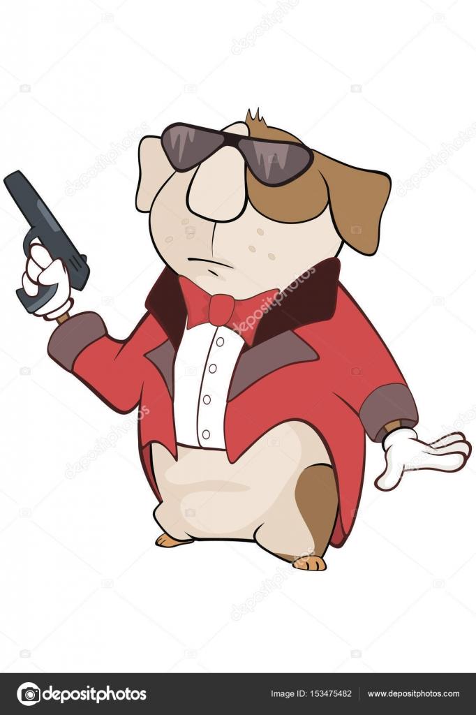 Ilustración de un gángster de conejillo de Indias. Personaje de ...