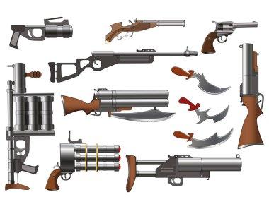 Set of Weapons Design, vector illustration