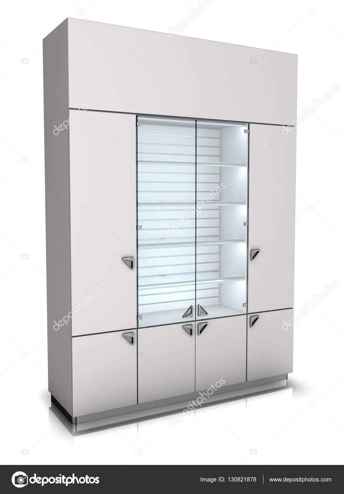 Vitrine Boekenkast Wit.Cabinet With A Glass Showcase 3d Image Stock Photo C Wir0man