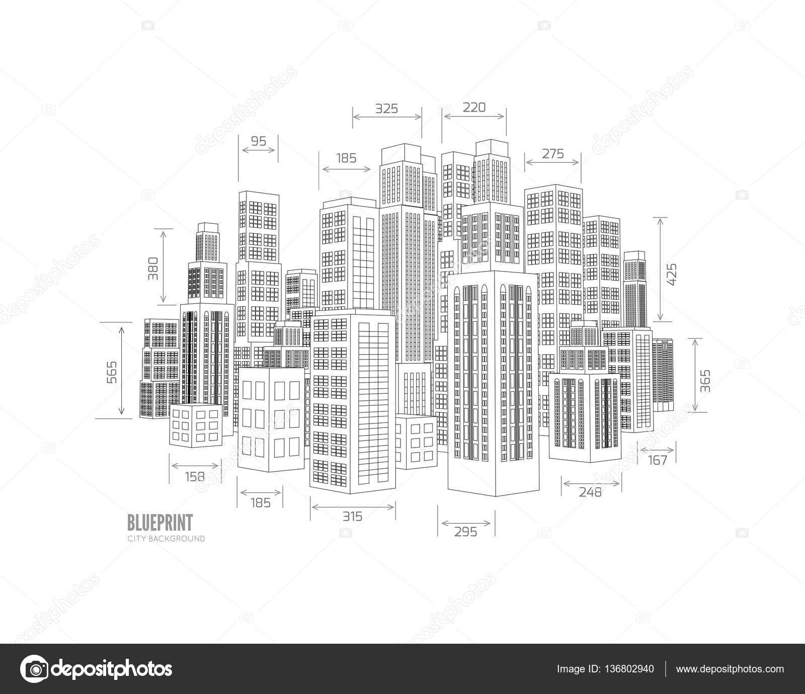 building wireframe 3d render city stock vector mpavlov 136802940