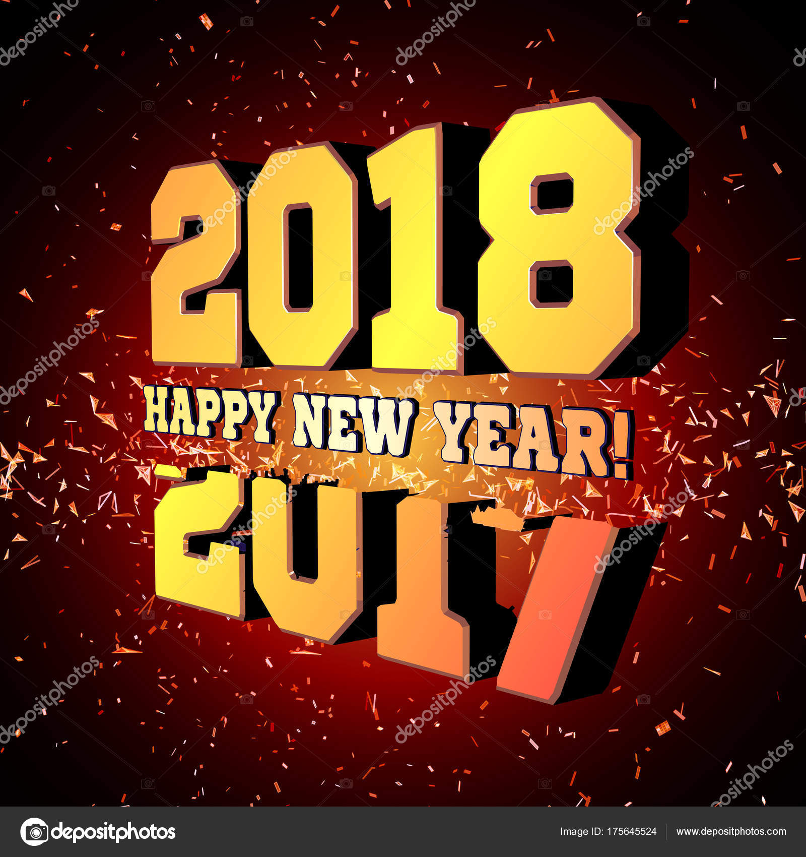 Official congratulations on the New Year 2018 81