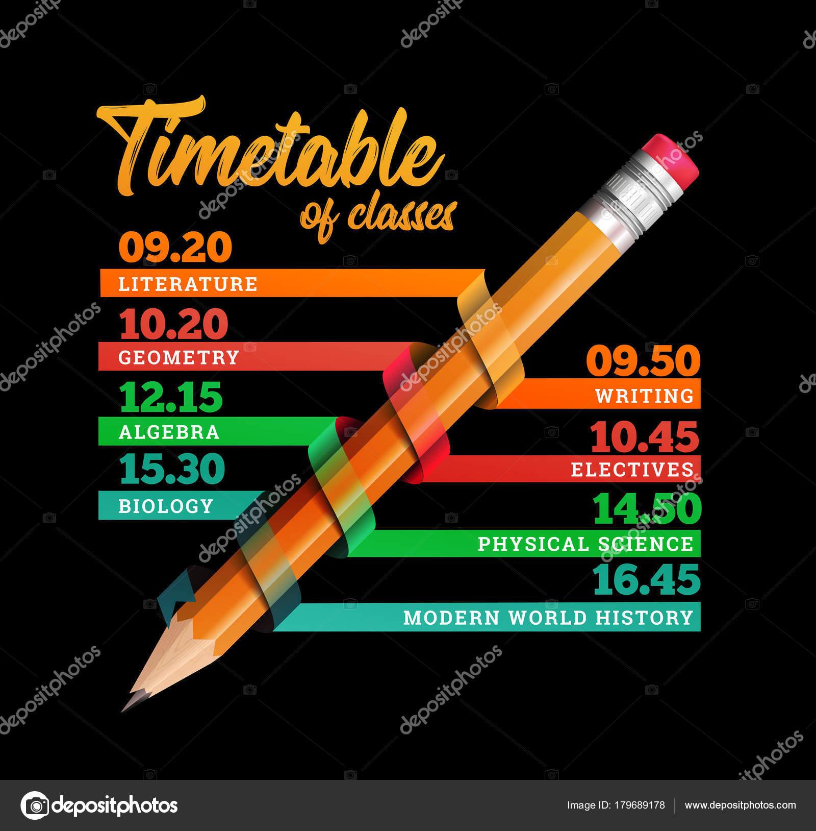 Calendario o línea de tiempo vector diseño plantilla ilustración con ...