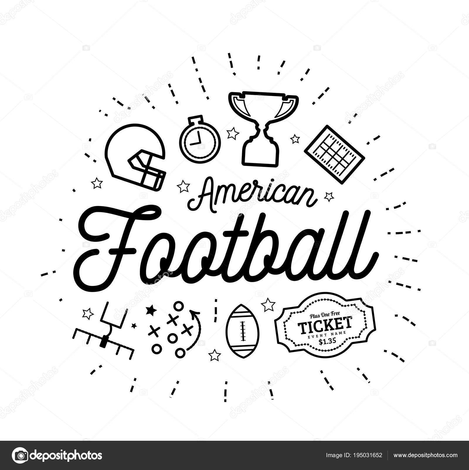 アメリカン フットボール細い線のスタイルでベクトル イラスト
