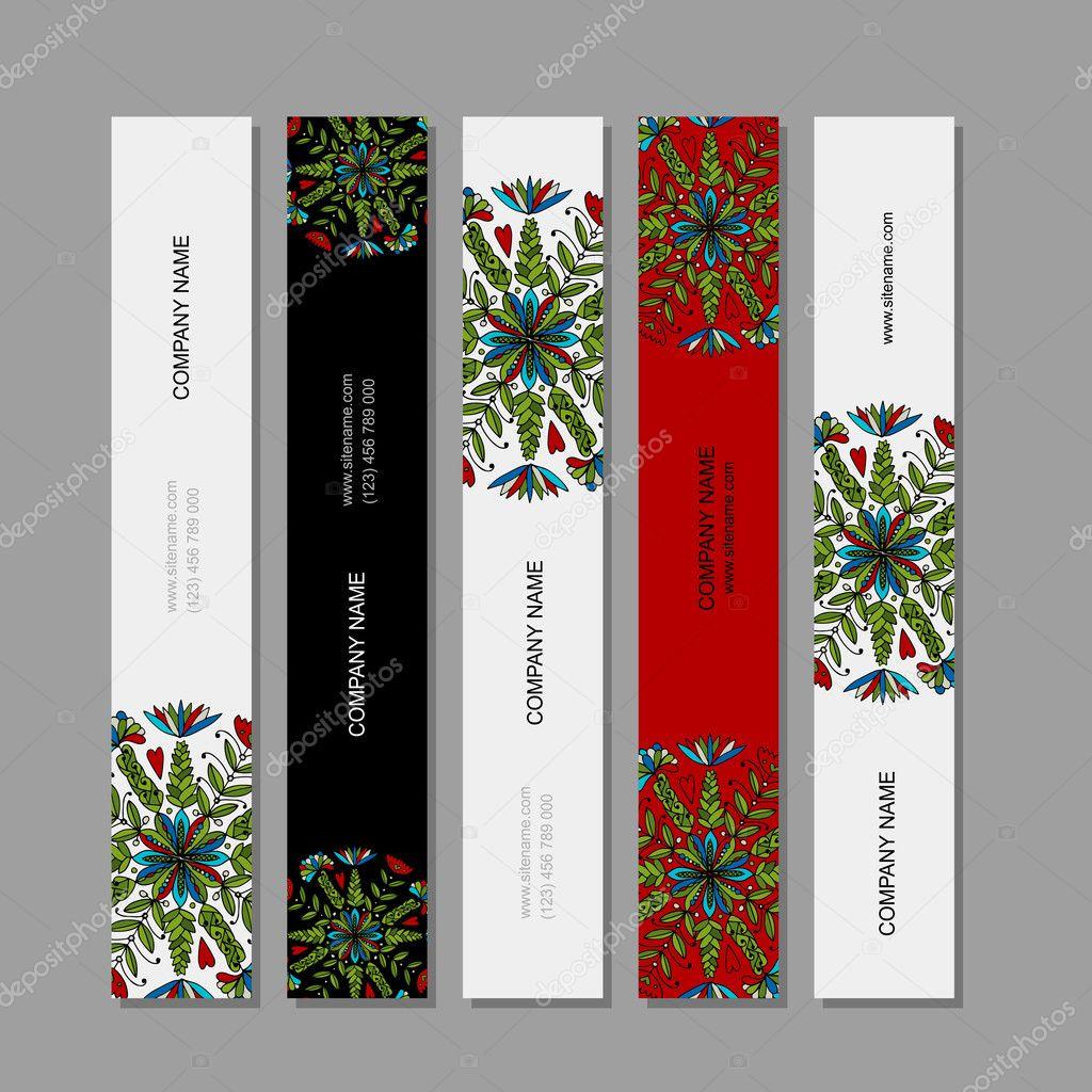 Banner set, floral mandala design