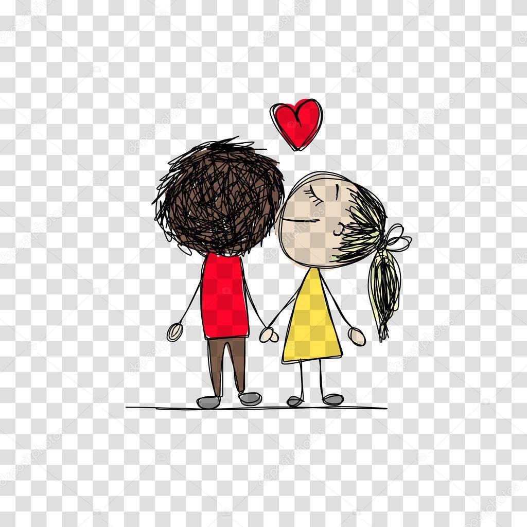 Самоделки, смешной рисунок влюбленная пара