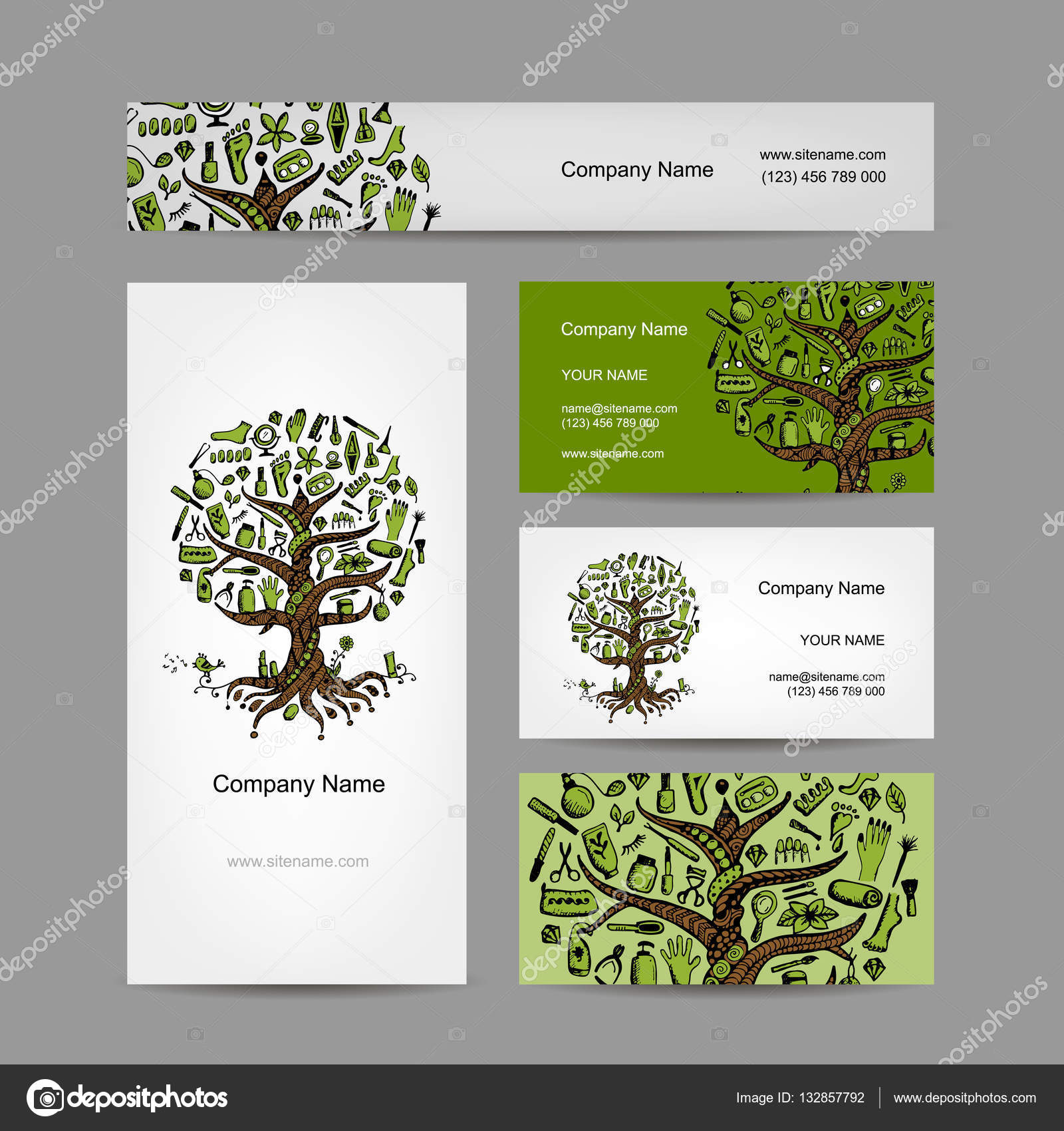 Business cards set with cosmetic tree design stock vector business cards set with cosmetic tree design stock vector 132857792 magicingreecefo Choice Image