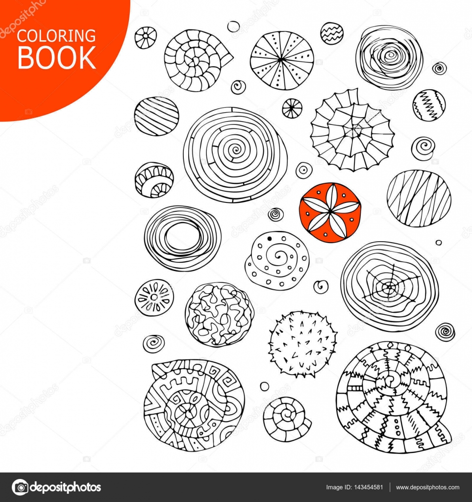Resumen de espirales y círculos. Bosquejo para su libro para ...
