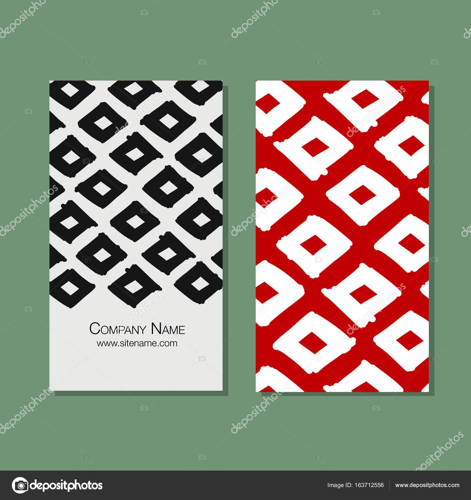 Cartes De Visite Design Motif Tissu Gomtrique Image Vectorielle