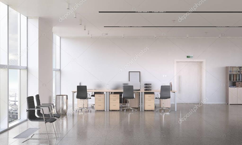 Design Ufficio Moderno : Ufficio moderno design tecnica mista u foto stock sergeynivens