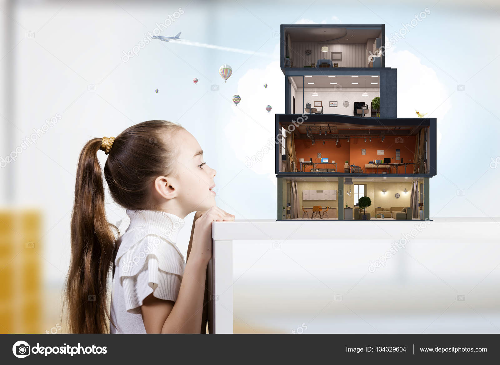 Design of your dream house . Mixed media — Stock Photo ...