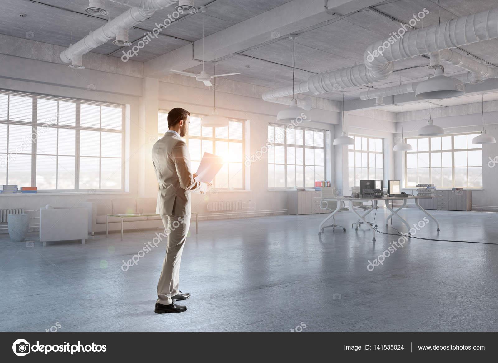 Ufficio Primo : Primo mattino in ufficio. tecnica mista u2014 foto stock © sergeynivens
