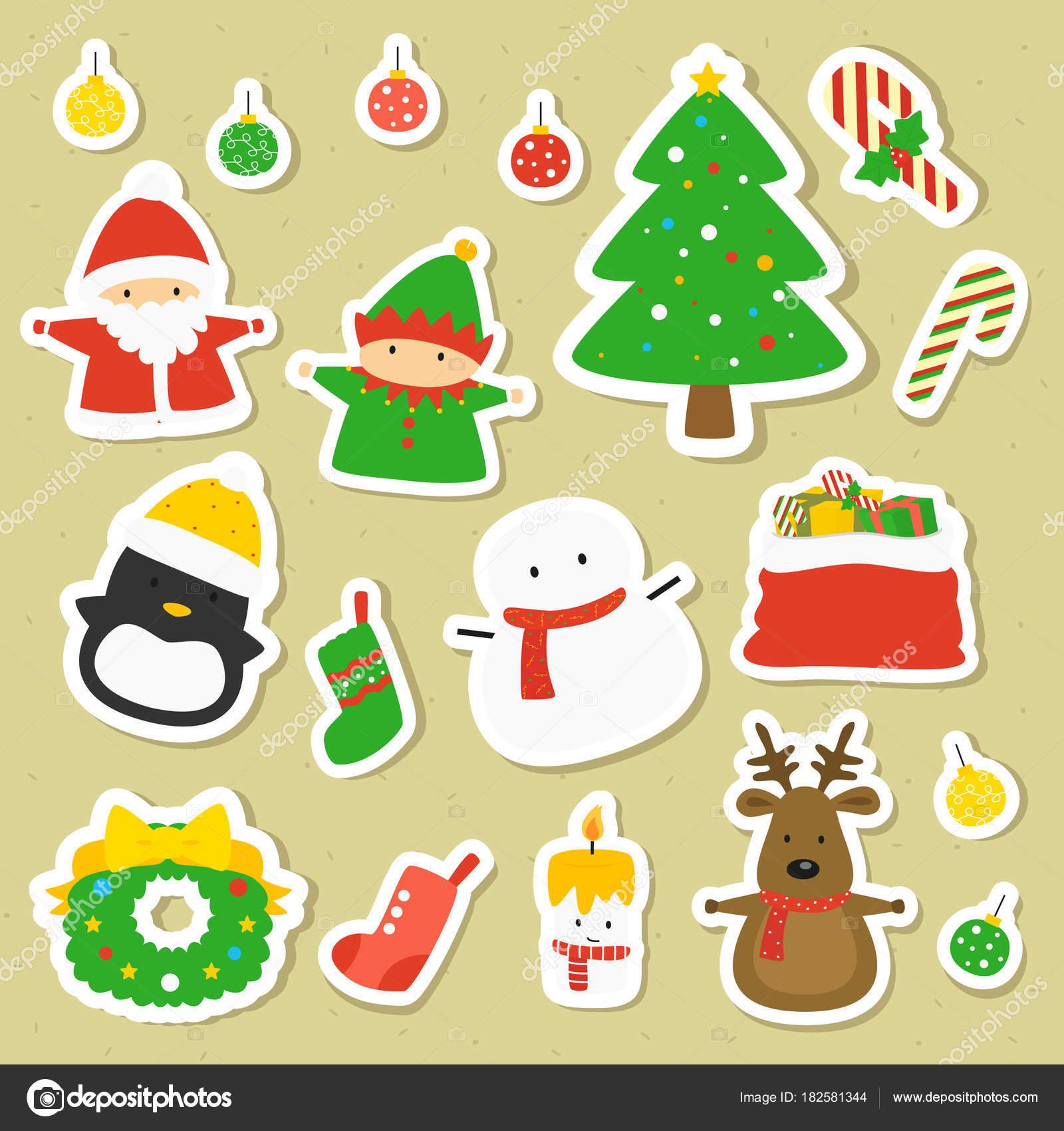 Colección Pegatinas Para Imprimir Personajes Artículos Navidad ...
