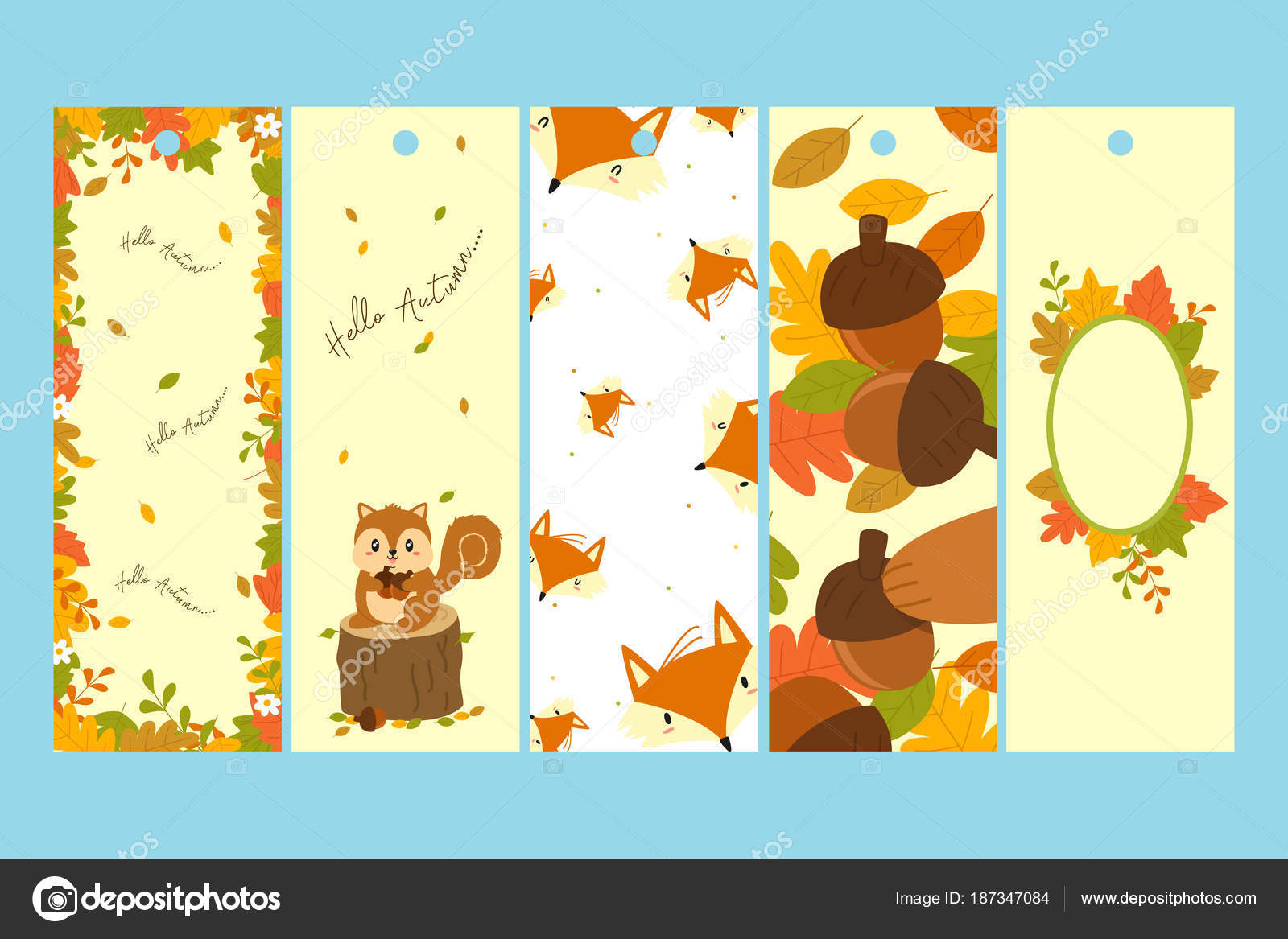 graphic regarding Printable Bookmark Template named Autumn Figures Products and solutions Bookmark Template Preset Printable