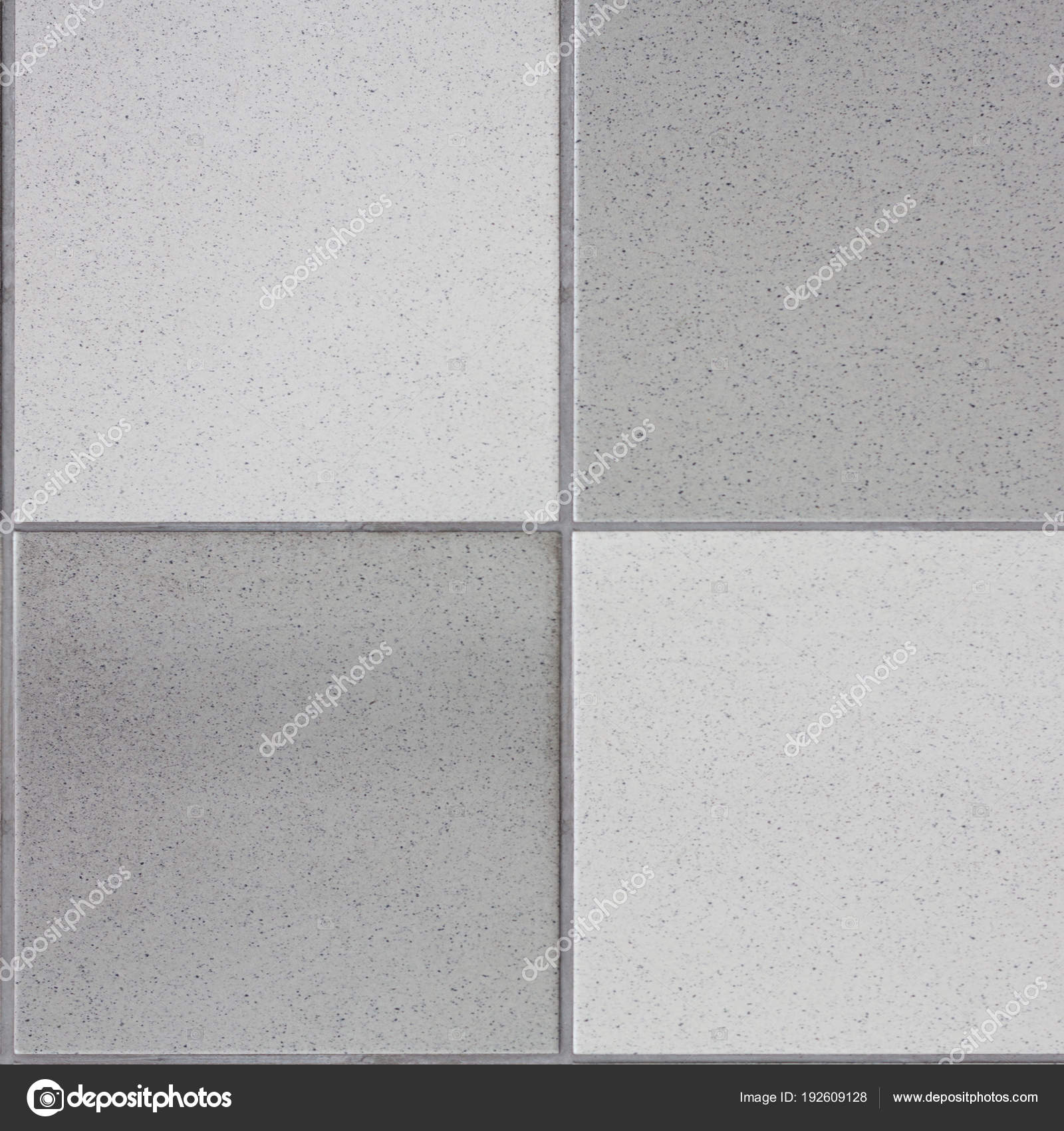 White and black tiles floor. Closed up of glossy ceramic brick tiles ...