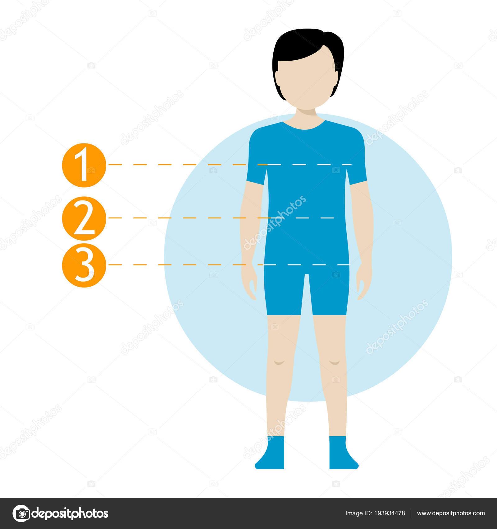 Tabla de medidas de cuerpo de niño. Cuerpo humano de la medición de ...