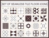 Hladké dlaždice podlahy ikon