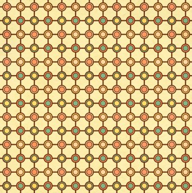 Texture of the old paper with geometric ornamental pattern