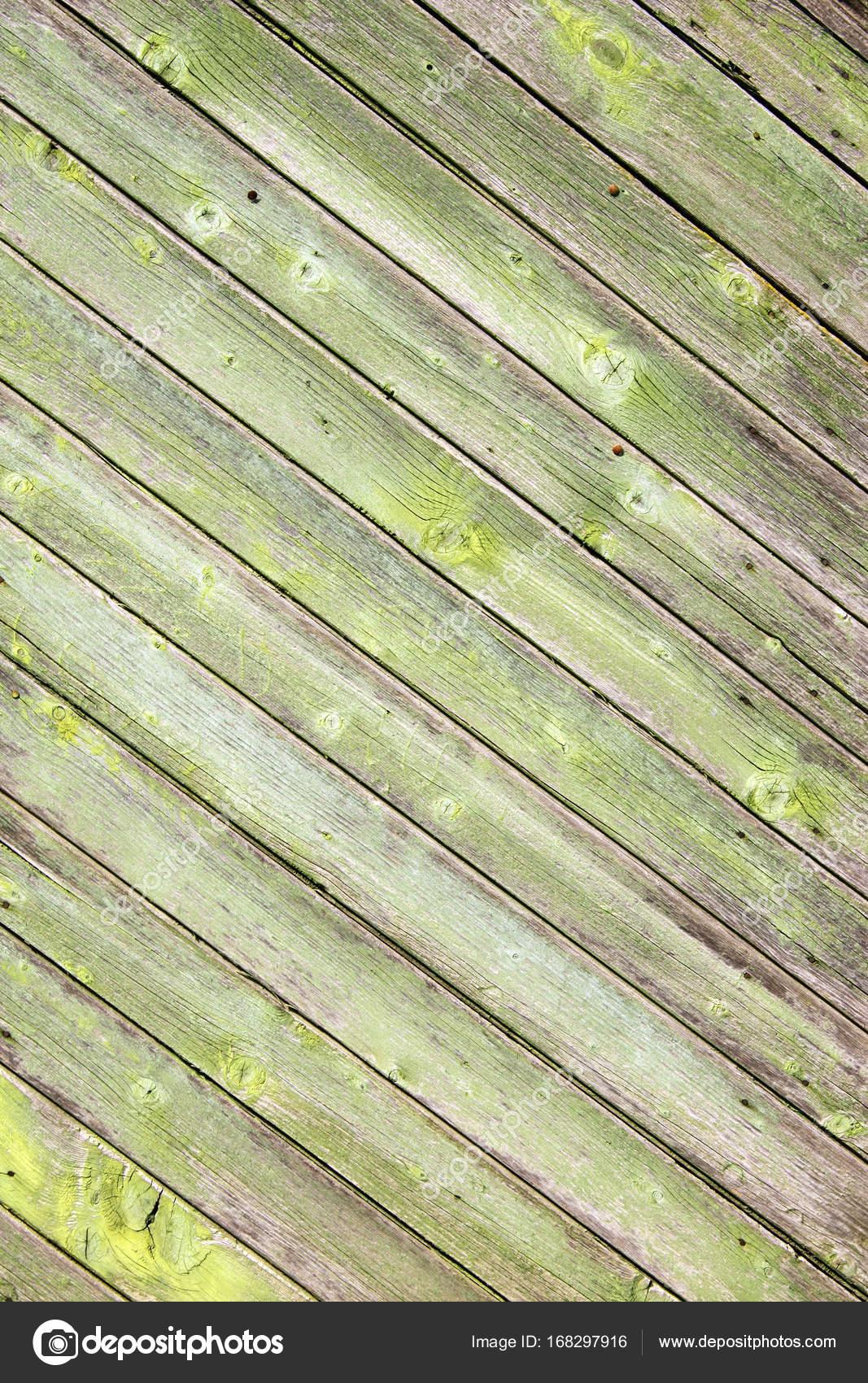 altem holz mit rissigen lack farbe grün — stockfoto © frenta #168297916