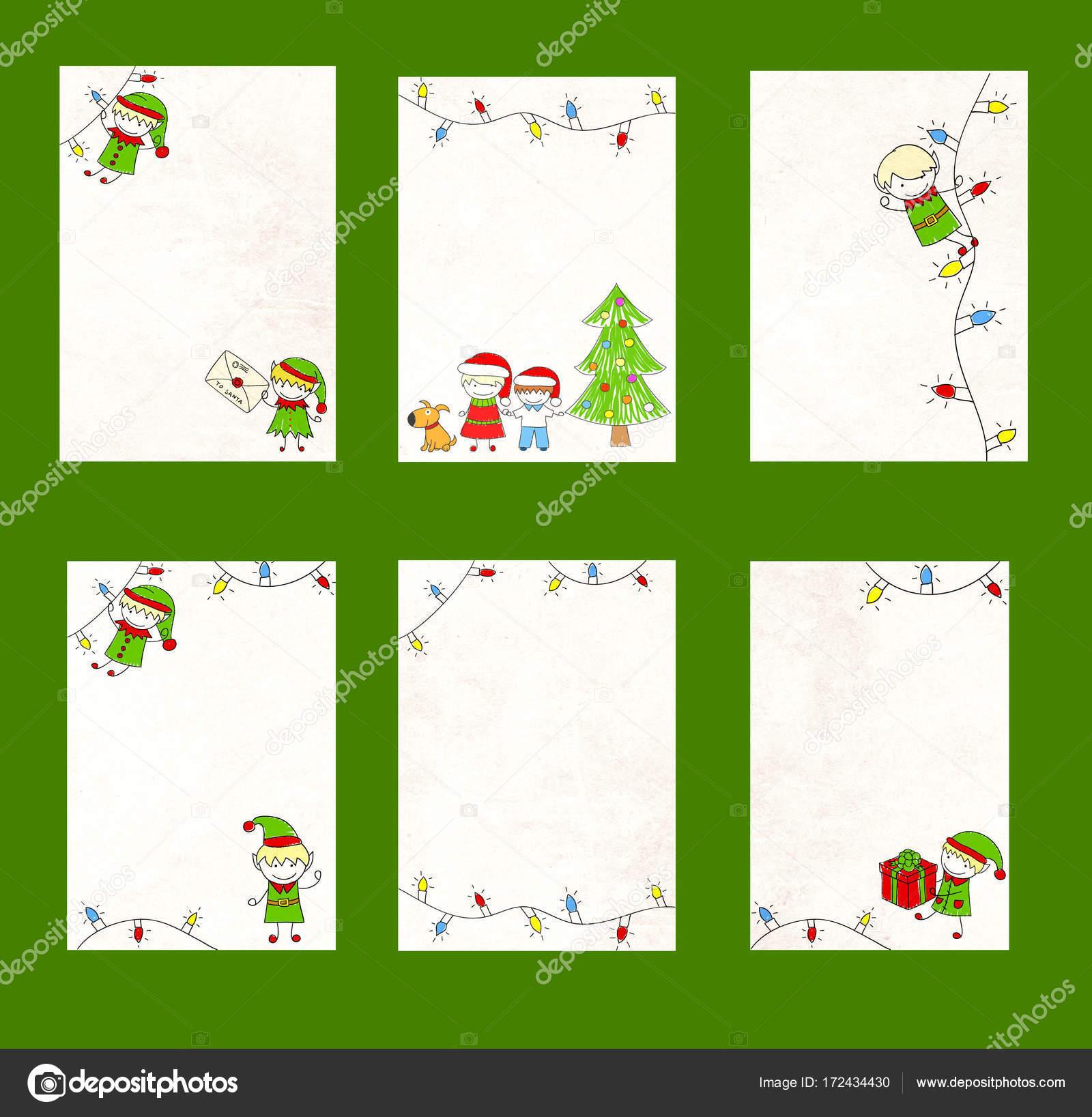 Satz Von Vorlage Brief An Den Weihnachtsmann Stockfoto Frenta