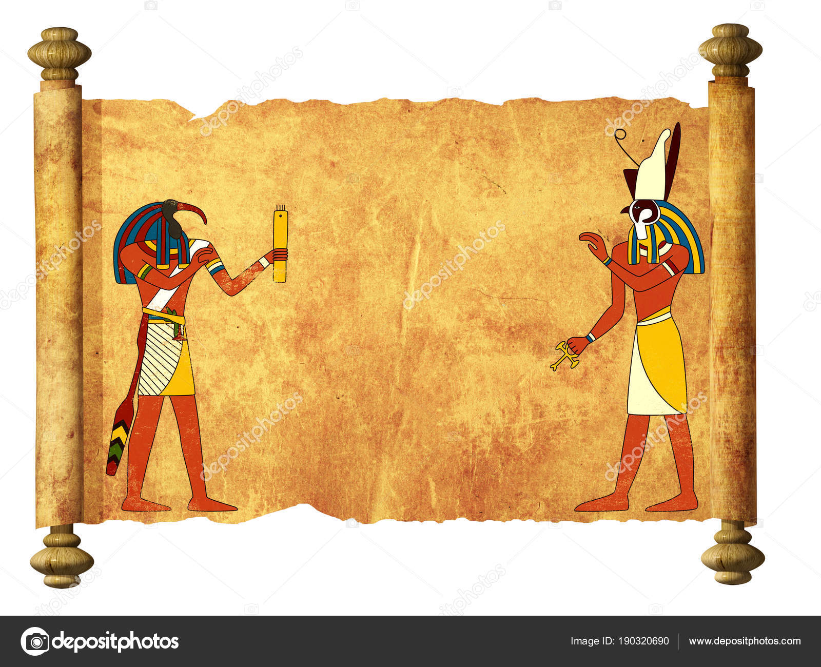 3d God Wallpaper Old Parchment With Egyptian Gods Images