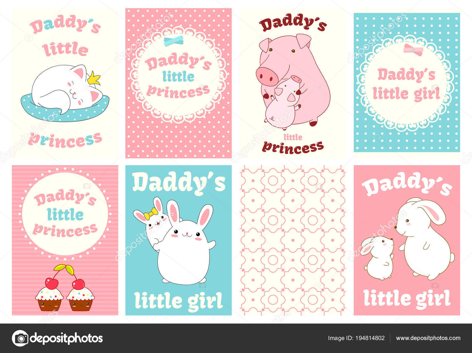 Pig Baby Shower Decorations Set Of Baby Shower Cards With