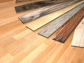 Photo New planks of parquet