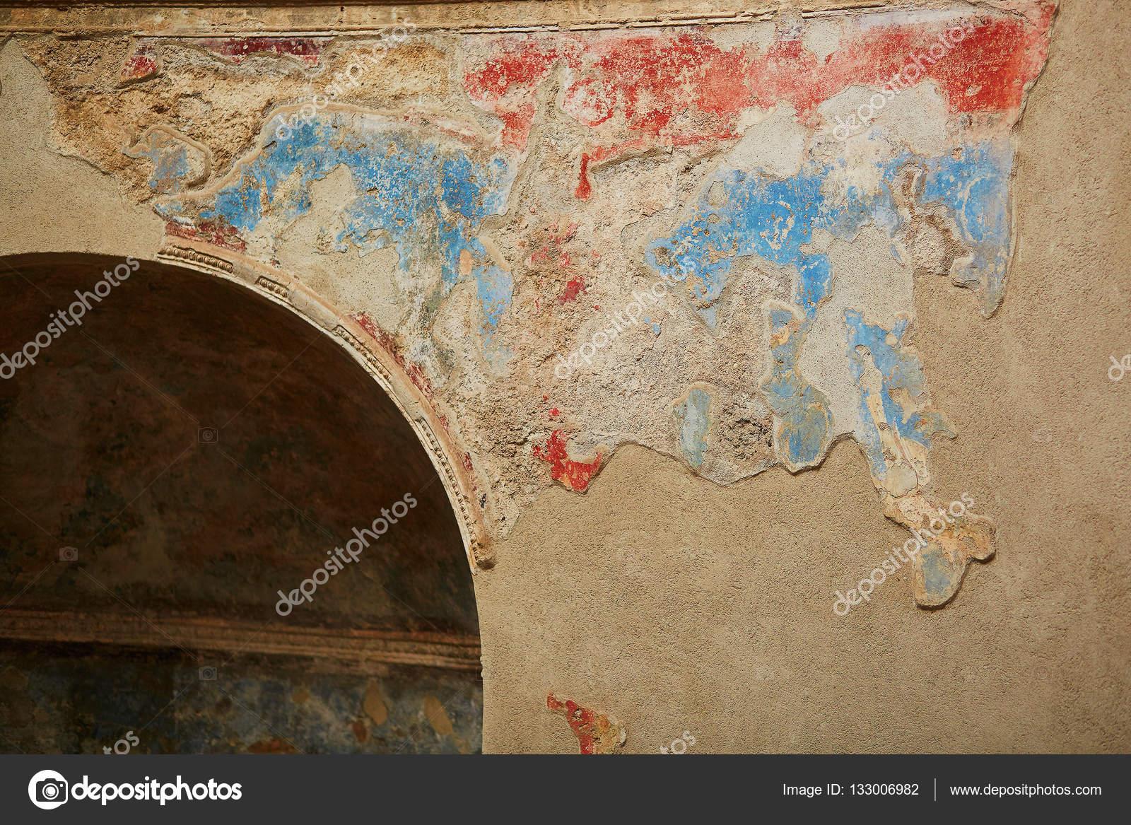 Peintures Murales De Couleur Antique Fresques à Pompéi