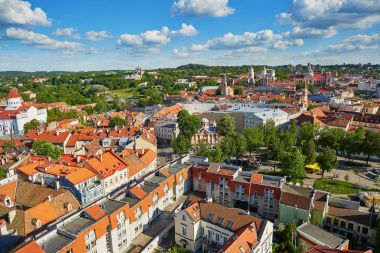 Beautiful panorama of Vilnius Old Town, Lithuania
