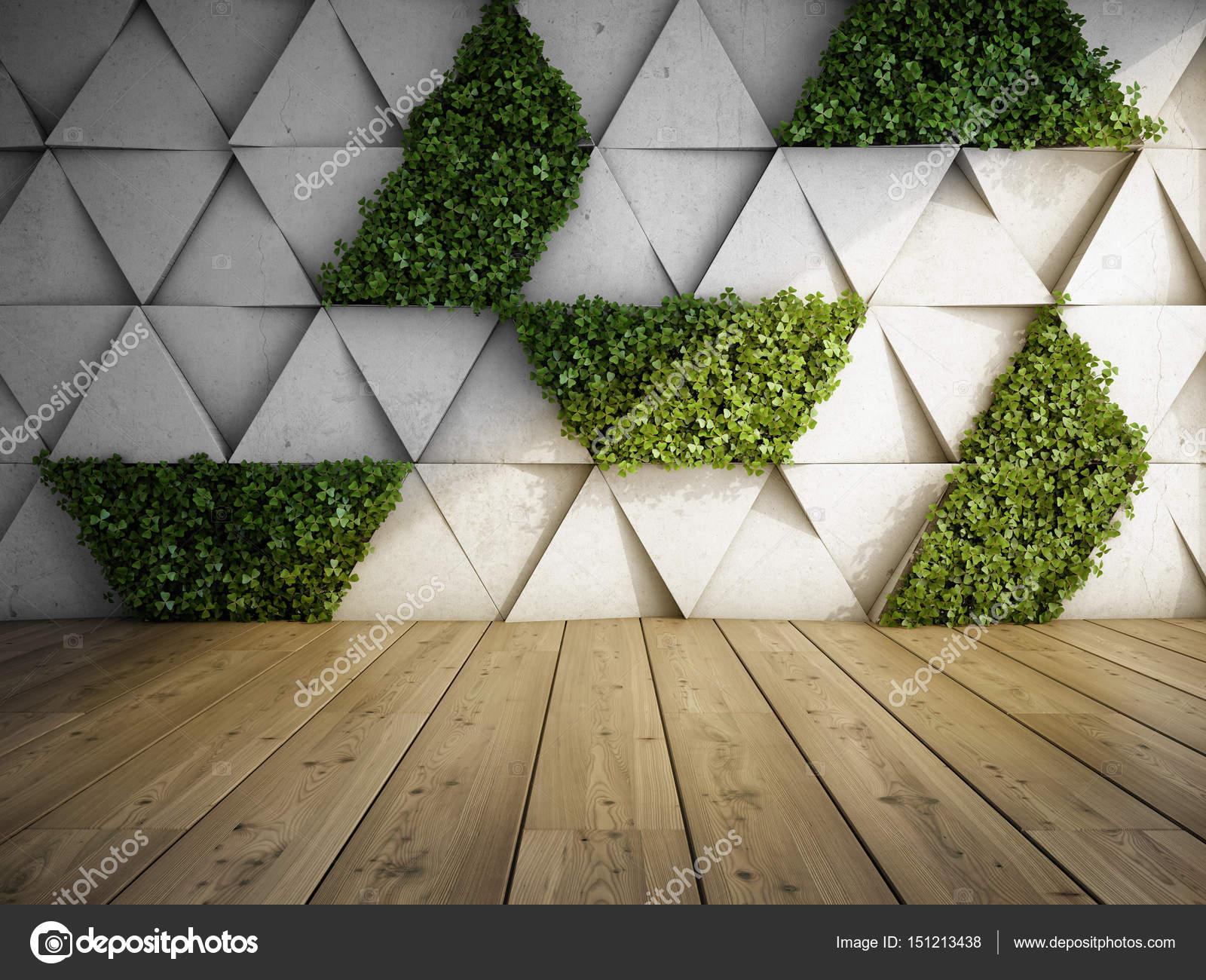 Verticale tuin in modern interieur — Stockfoto