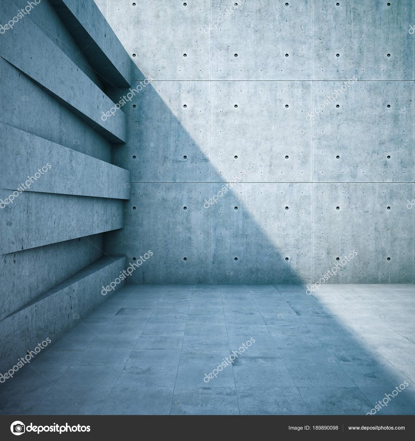 Architektonische Gestaltung Der Wände Aus Geometrischen Formen. 3D  Illustration U2014 Foto Von Shenki