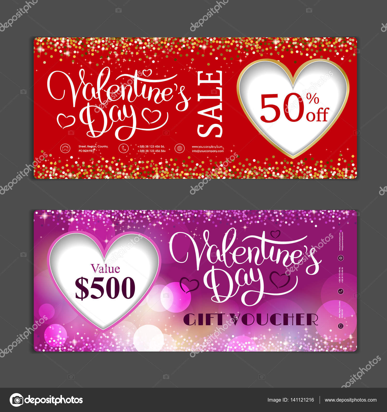 Gift Voucher Template Can Be Use For Shopping Cards Discount