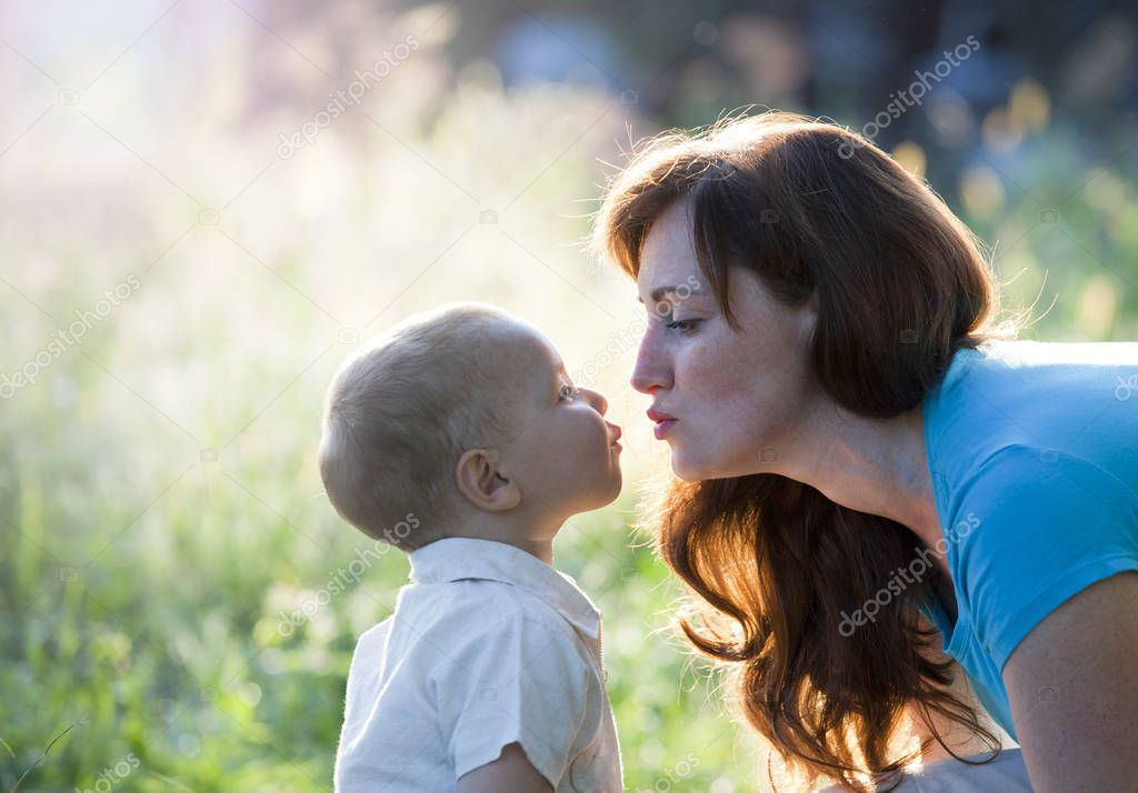 Happy mother with boy