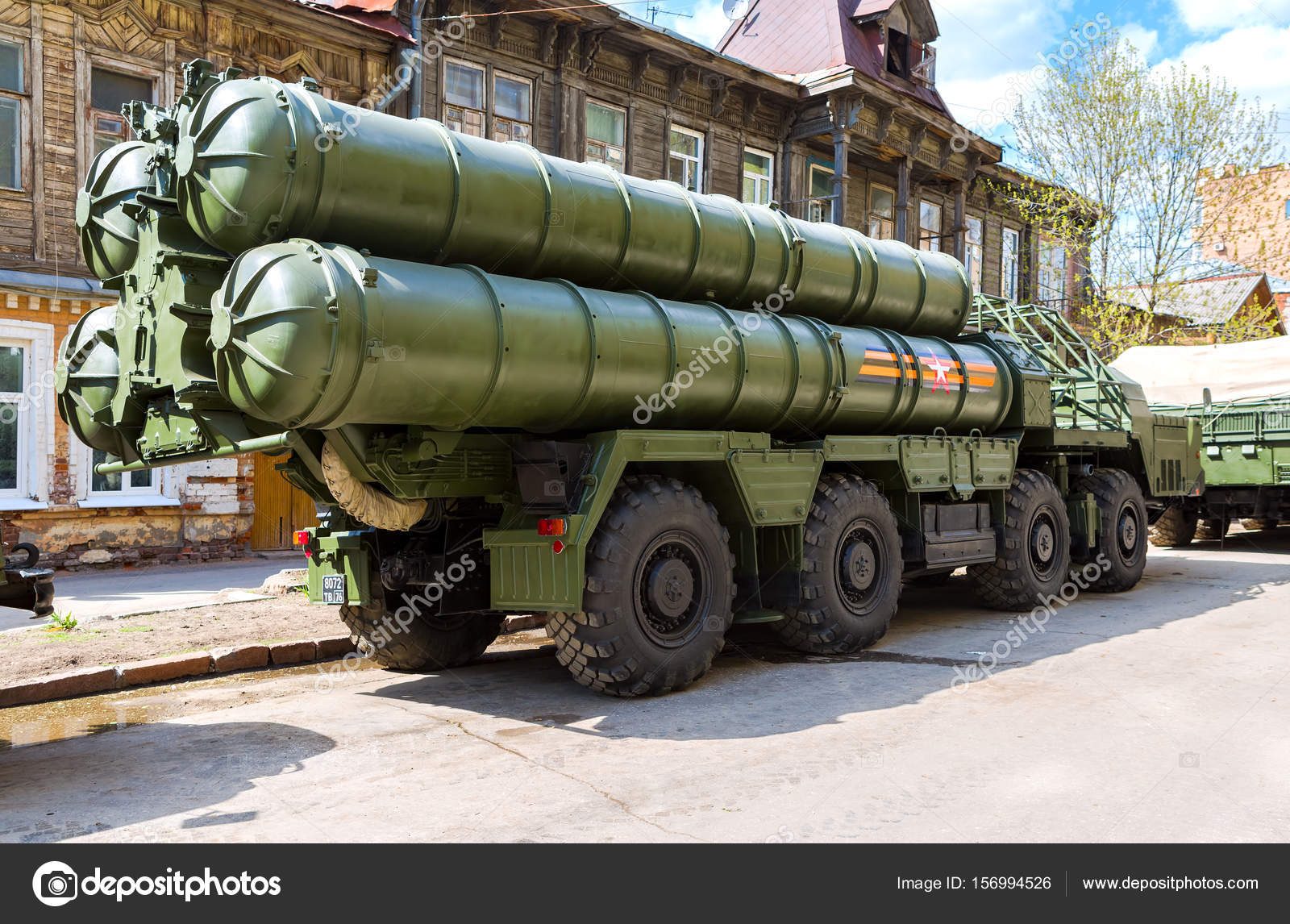 A Regiment Equipped With An Anti Aircraft And Missile Mobile System S 400 Triumph Was Positioned In The Moscow Region Russian Ministry Of Defense