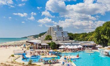 Pool on the territory of hotel. Resort Albena, Bulgaria