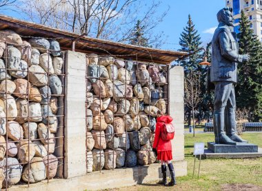 Sculptural composition of the memory of victims of Stalinist repression and monument to J. Sverdlov in the Art Park