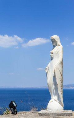 Vico Equense. Italy July 17,2017: Statue at Church Santissima Annunziata, Vico Equense, Peninsula of Sorrento, Campania, Italy.