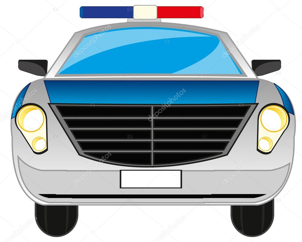 Kresleny Policejni Auto Stock Vektor C Cobol1964 127119316