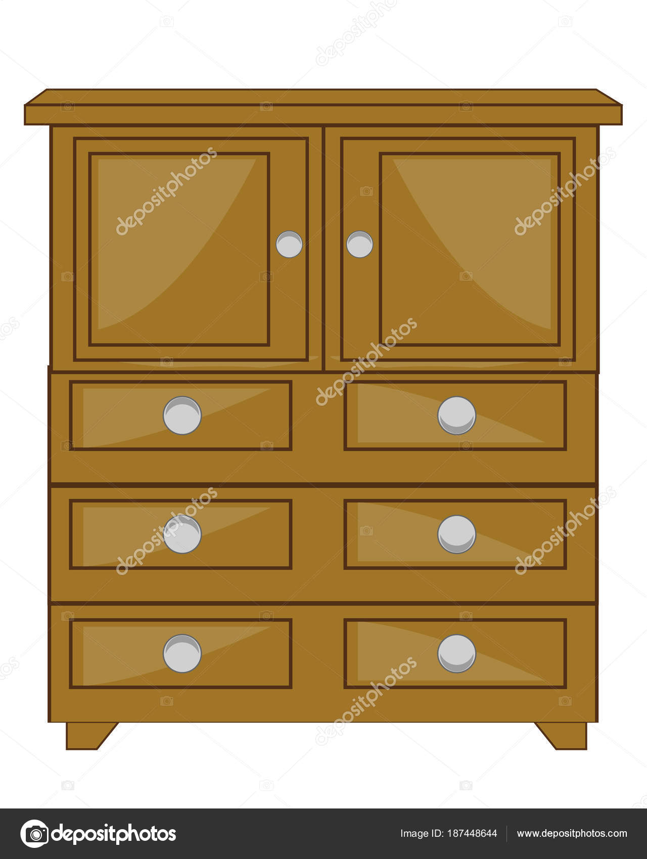 Armario de madera de muebles — Archivo Imágenes Vectoriales ...