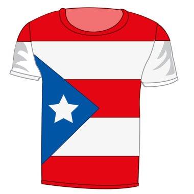 T-shirt flag Puerto - Riko