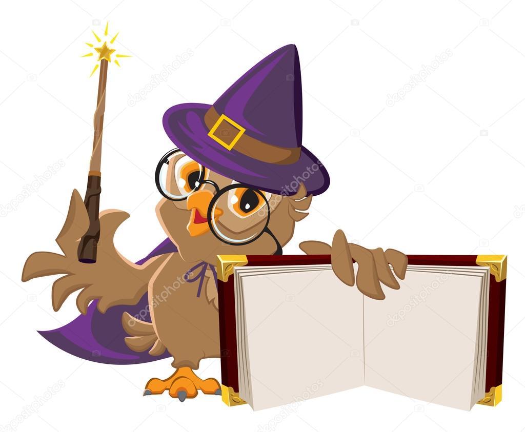 Oiseau Chouette En Costume D Halloween Tenant Livre Ouvert