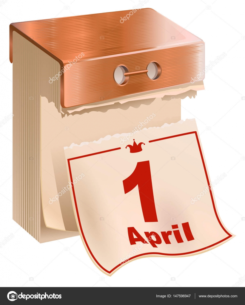 Calendario A Strappo.1 April Fools Day Foglio Del Calendario Di Strappo