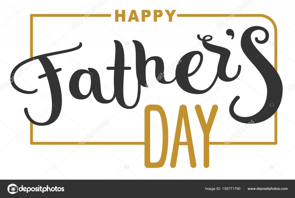 happy fathers day lettering text for template greeting card stock