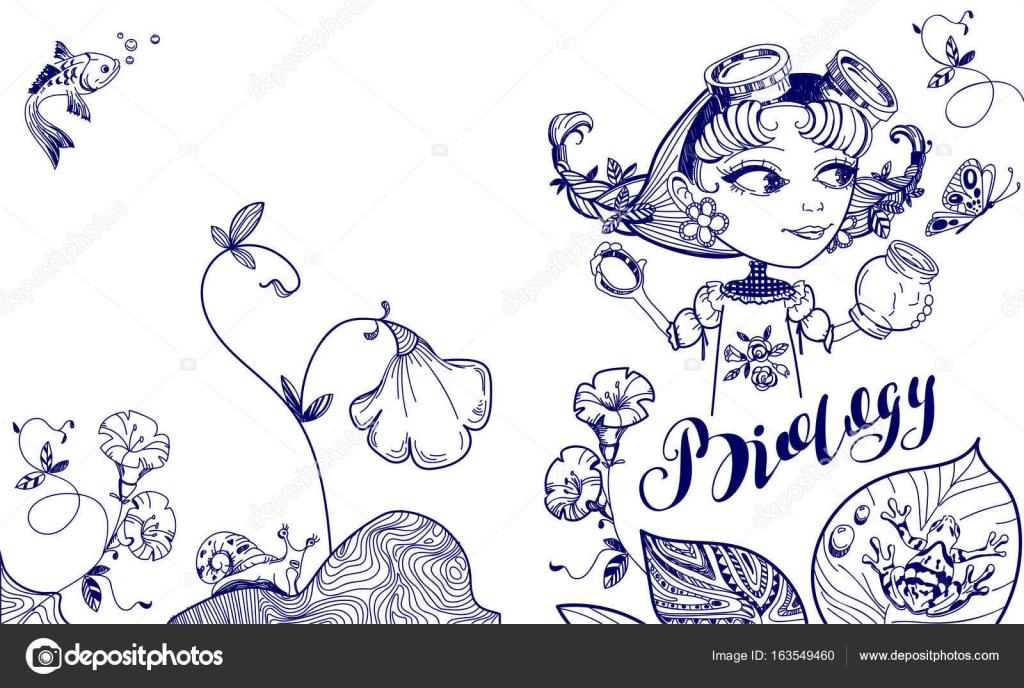 Imágenes: nerd para colorear | Chica nerd bonita atrapa mariposa en ...