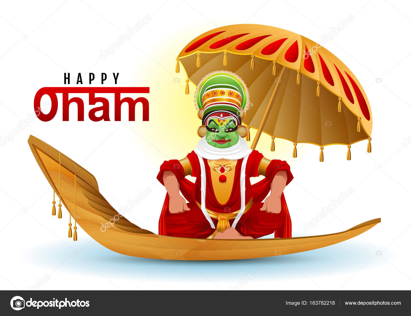 Happy onam greeting card hindu festival of kerala in india happy onam greeting card hindu festival of kerala in india mahabali king returns swimming kristyandbryce Image collections