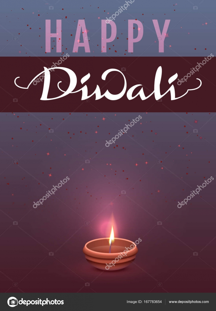 Joyeux Diwali Fête Indienne Des Lumières Carte De Voeux